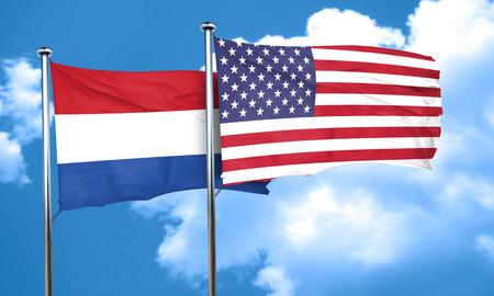 netherlands flag: Netherlands flag, 3D rendering