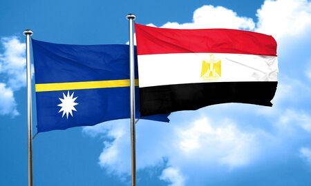 bandera egipto: bandera de Nauru con la bandera de Egipto, 3D
