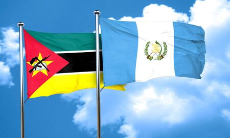 bandera de guatemala: bandera de Mozambique con la bandera de Guatemala, 3D