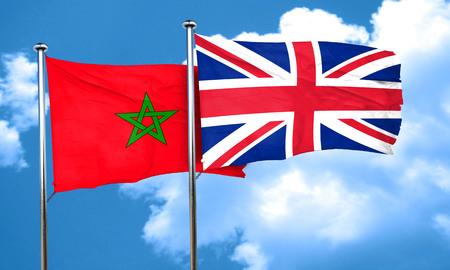 bandera de gran bretaña: bandera de Marruecos con la bandera de Gran Bretaña, 3D