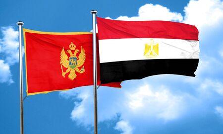 bandera de egipto: bandera de Montenegro con la bandera de Egipto, 3D