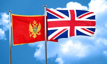 bandera de gran bretaña: bandera de Montenegro con la bandera de Gran Bretaña, 3D