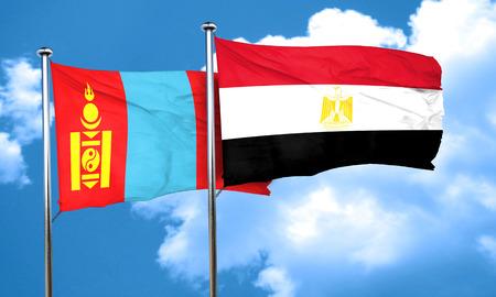 bandera de egipto: bandera de Mongolia con la bandera de Egipto, 3D