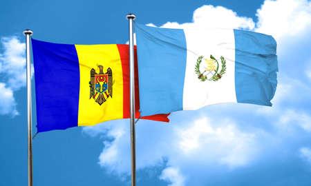 bandera de guatemala: bandera de Moldavia con la bandera de Guatemala, 3D Foto de archivo