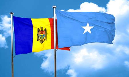 somalia: Moldova flag with Somalia flag, 3D rendering