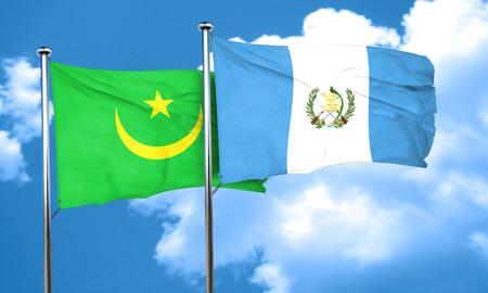 bandera de guatemala: bandera de Mauritania con bandera de Guatemala, 3D