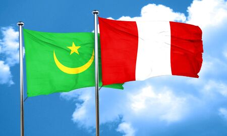 bandera de peru: bandera de Mauritania con la bandera de Perú, 3D