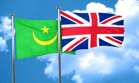 bandera de gran bretaña: bandera de Mauritania con la bandera de Gran Bretaña, 3D Foto de archivo