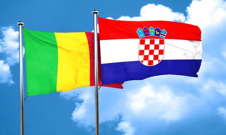 bandera croacia: bandera de Malí con la bandera de Croacia, 3D Foto de archivo