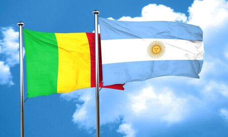 argentine: Mali flag with Argentine flag, 3D rendering Stock Photo