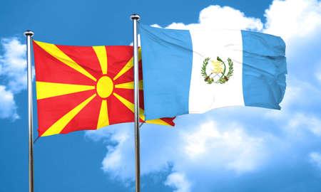 bandera de guatemala: bandera de Macedonia con la bandera de Guatemala, 3D