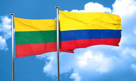 bandera de colombia: Bandera de Lituania con la bandera de Colombia, 3D