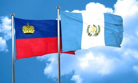 bandera de guatemala: Liechtenstein bandera de la bandera de Guatemala, 3D