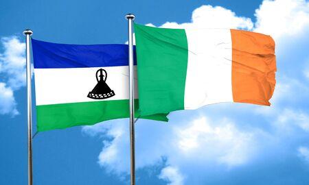 bandera de irlanda: bandera de Lesotho con la bandera de Irlanda, 3D