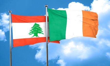 bandera irlanda: bandera de L�bano con la bandera de Irlanda, 3D