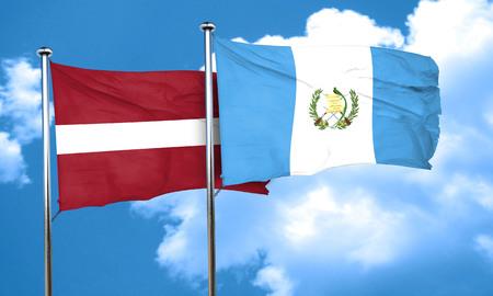 bandera de guatemala: bandera de Letonia con la bandera de Guatemala, 3D