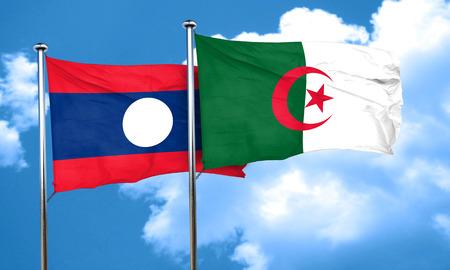 algeria: Laos flag with Algeria flag, 3D rendering
