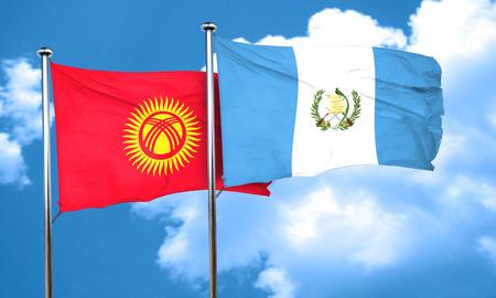 bandera de guatemala: Bandera de Kirguistán con la bandera de Guatemala, 3D