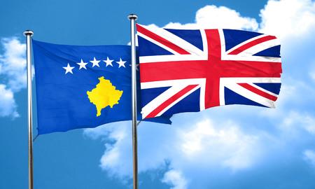 bandera de gran bretaña: bandera de Kosovo con la bandera de Gran Bretaña, 3D
