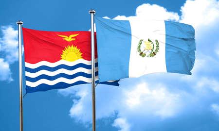 guatemalan: Kiribati flag with Guatemala flag, 3D rendering