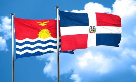 dominican: Kiribati flag with Dominican Republic flag, 3D rendering Stock Photo
