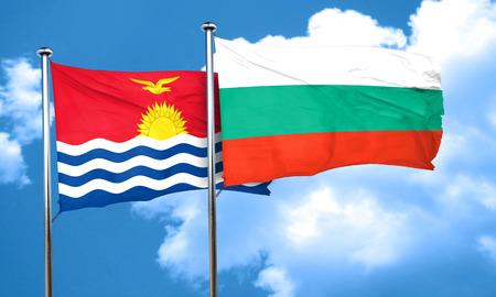 kiribati: Kiribati flag with Bulgaria flag, 3D rendering