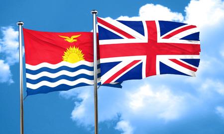 bandera de gran bretaña: bandera de Kiribati con bandera de Gran Bretaña, 3D