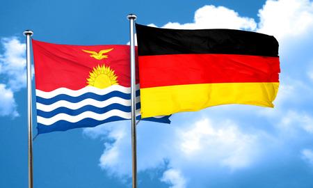 kiribati: Kiribati flag with Germany flag, 3D rendering Stock Photo