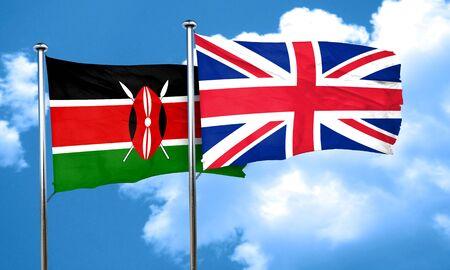 bandera de gran bretaña: bandera de Kenia con la bandera de Gran Bretaña, 3D
