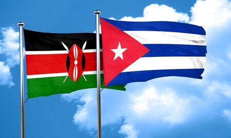 bandera cuba: bandera de Kenia con la bandera de Cuba, 3D Foto de archivo