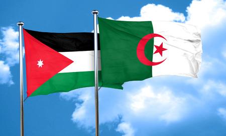 algeria: Jordan flag with Algeria flag, 3D rendering