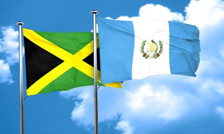 bandera de guatemala: bandera de Jamaica con la bandera de Guatemala, 3D Foto de archivo