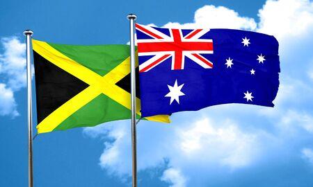australia flag: Jamaica flag with Australia flag, 3D rendering Stock Photo
