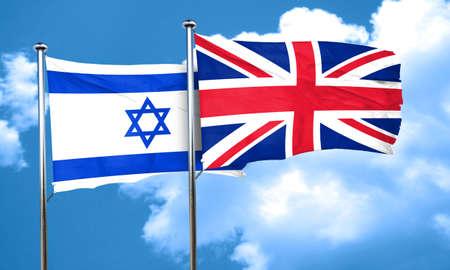bandera de gran breta�a: Indicador de Israel con la bandera de Gran Breta�a, 3D