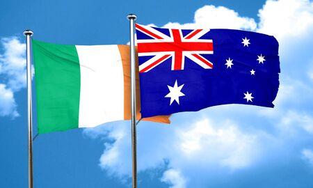 bandera de irlanda: La bandera de Irlanda con la bandera de Australia, 3D