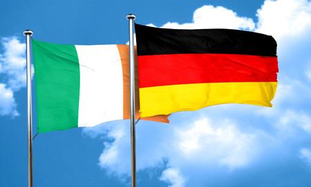 ireland flag: Ireland flag with Germany flag, 3D rendering Stock Photo