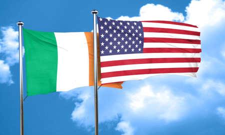 ireland flag: Ireland flag, 3D rendering Stock Photo