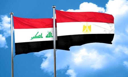 bandera egipto: bandera de Iraq con la bandera de Egipto, 3D