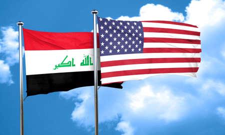 iraq flag: Iraq flag, 3D rendering Stock Photo