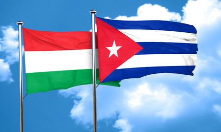 bandera cuba: bandera de Hungría con la bandera de Cuba, 3D