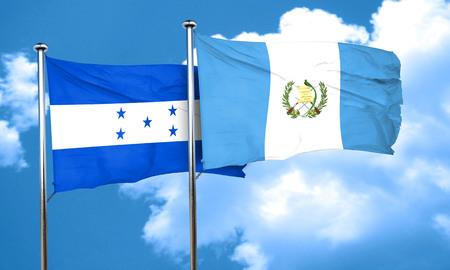 bandera de guatemala: bandera de Honduras con la bandera de Guatemala, 3D Foto de archivo