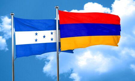 bandera honduras: bandera de Honduras con la bandera de Armenia, 3D Foto de archivo