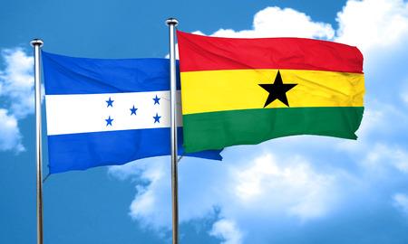 bandera honduras: bandera de Honduras con la bandera de Ghana, 3D