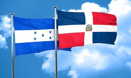 bandera honduras: bandera de Honduras con la bandera de República Dominicana, 3D