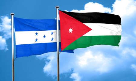 bandera honduras: bandera de Honduras con la bandera de Jordania, 3D
