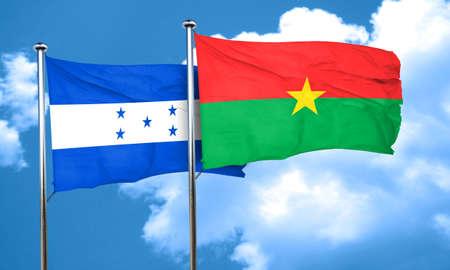 bandera honduras: bandera de Honduras con la bandera de Burkina Faso, 3D
