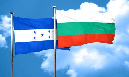 bandera de honduras: bandera de Honduras con la bandera de Bulgaria, 3D
