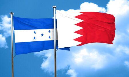 bandera honduras: bandera de Honduras con la bandera de Bahrein, 3D Foto de archivo