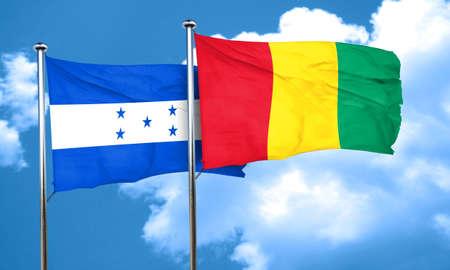 bandera honduras: bandera de Honduras con la bandera de Guinea, 3D Foto de archivo