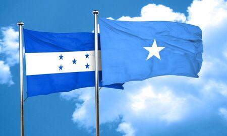 bandera honduras: bandera de Honduras con la bandera de Somalia, 3D